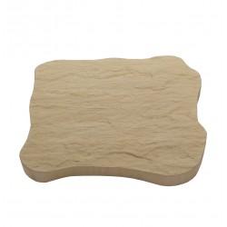 Pas japonais de jardin en pierre reconstituée ardoisé camel 31 x 26 x 3 cm