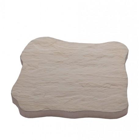 Pas japonais en pierre reconstituée ardoisé ocre de face
