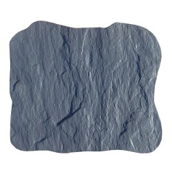 Pas japonais en pierre reconstituée ardoisé gris