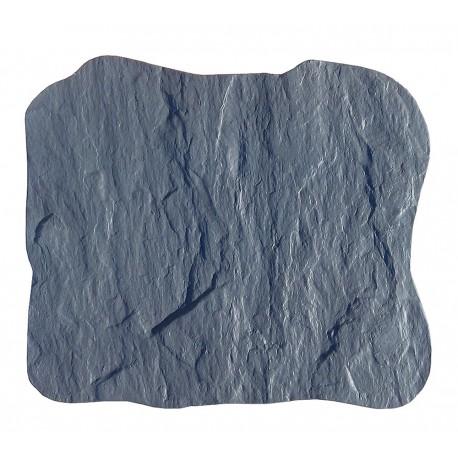 Pas japonais en pierre reconstituée ardoisé gris de face