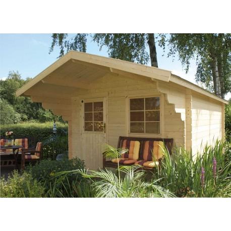 Abri de jardin bois 8,64 m2 d'épaisseur 28 mm, de 3 x 3 m