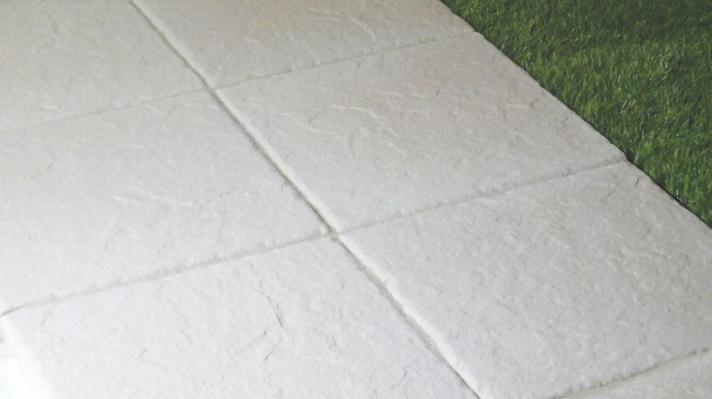 Comment Placer Des Dalles De Jardin dalle de terrasse en pierre reconstituée 45,5 x 45,5 x 3 cm