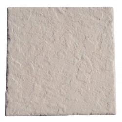 Dalle en pierre reconstituée 45,5 x 45,5 x 3 cm ardoisée ocre