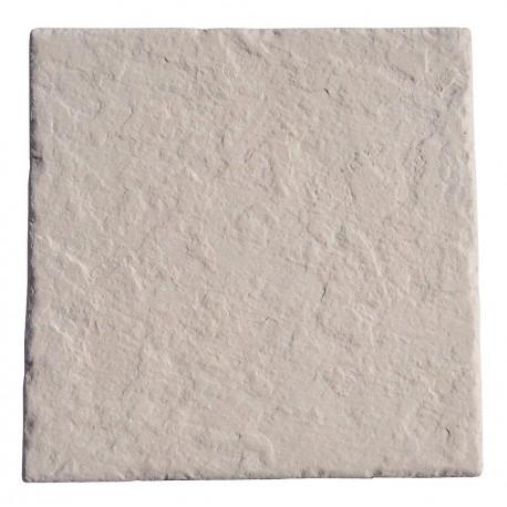 Dalle en pierre reconstituée 45 x 45 x 2,5 cm ardoisée ocre de face