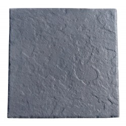 Dalle de terrasse en pierre reconstituée 45,5 x 45,5 x 3 cm ardoisée anthracite