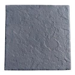 Dalle en pierre reconstituée 45,5 x 45,5 x 3 cm ardoisée anthracite