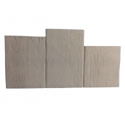 Bordure pierre reconstituée planche apparence bois foncé