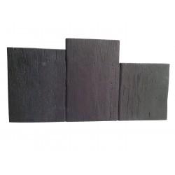 Bordure de jardin en pierre reconstituée planche apparence bois noir 60 x 3 x 30 cm