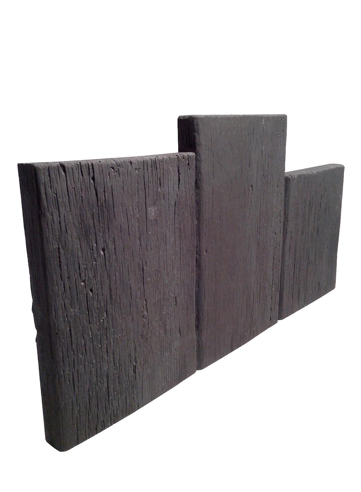 Bordure pierre planche bois noir for Planche en bois noir