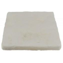 Pavé de terrasse en pierre reconstituée à coller 16 x 16 x 1,8 cm blanc