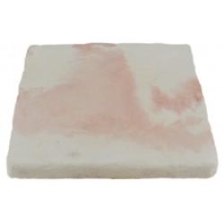 Pavé de terrasse en pierre reconstituée à coller 16 x 16 x 1,8 cm blanc nuancé