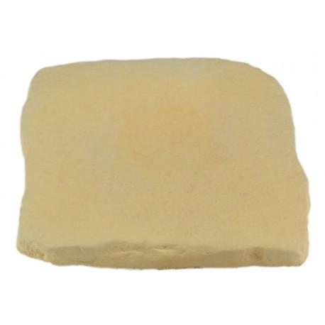 Pavé en pierre reconstituée à coller 16 x 16 x 1,8 cm camel