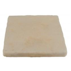 Pavé de terrasse en pierre reconstituée à coller 16 x 16 x 1,8 cm ocre