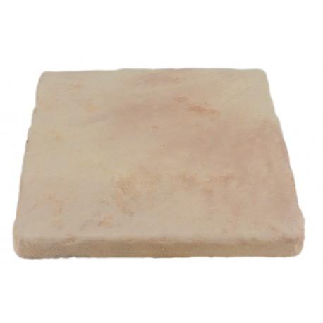 Pavé de terrasse en pierre reconstituée à coller 16 x 16 x 1,8 cm ocre nuancé