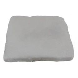 Pavé de terrasse en pierre reconstituée à coller 16 x 16 x 1,8 cm gris clair