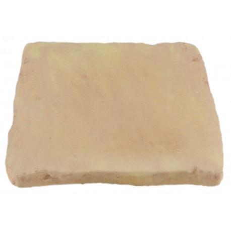 Pavé de terrasse en pierre reconstituée à coller 16 x 16 x 1,8 cm camel nuancé