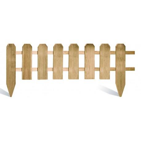 Bordure de jardin en bois à planter 120 x 1,6 x 45 cm