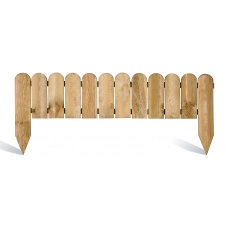Bordure de jardin en bois à planter 110 x 1,6 x 40 cm