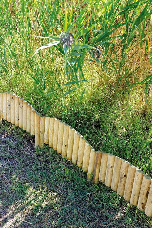 Bordure de jardin en bois à planter arc 55 x 2,5 x 40 cm