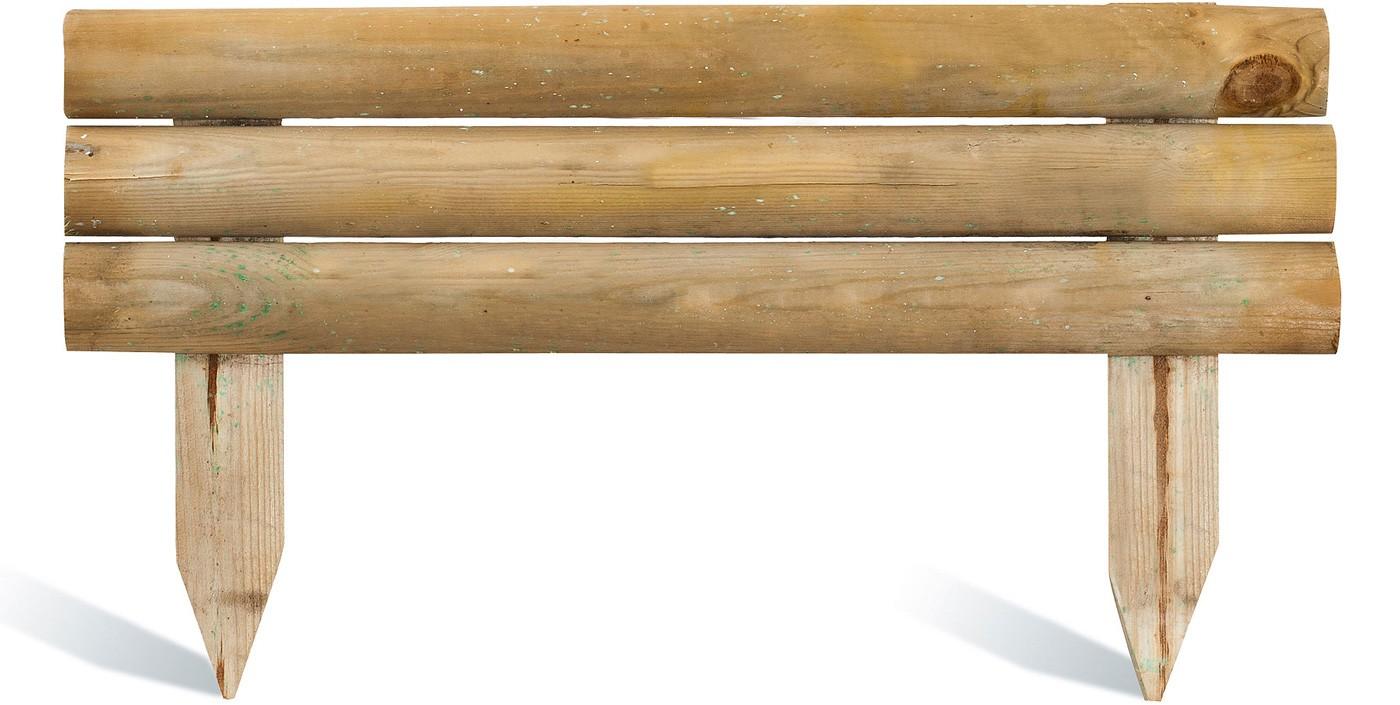 Bordure de jardin en bois à planter 55 x 2,5 x 30 cm