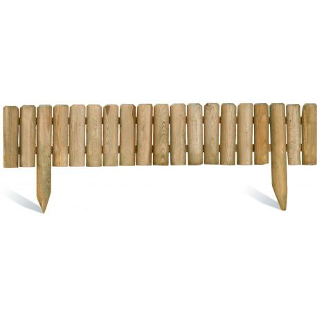 Bordure de jardin en bois stackette 100 x 20 x 3,5 cm