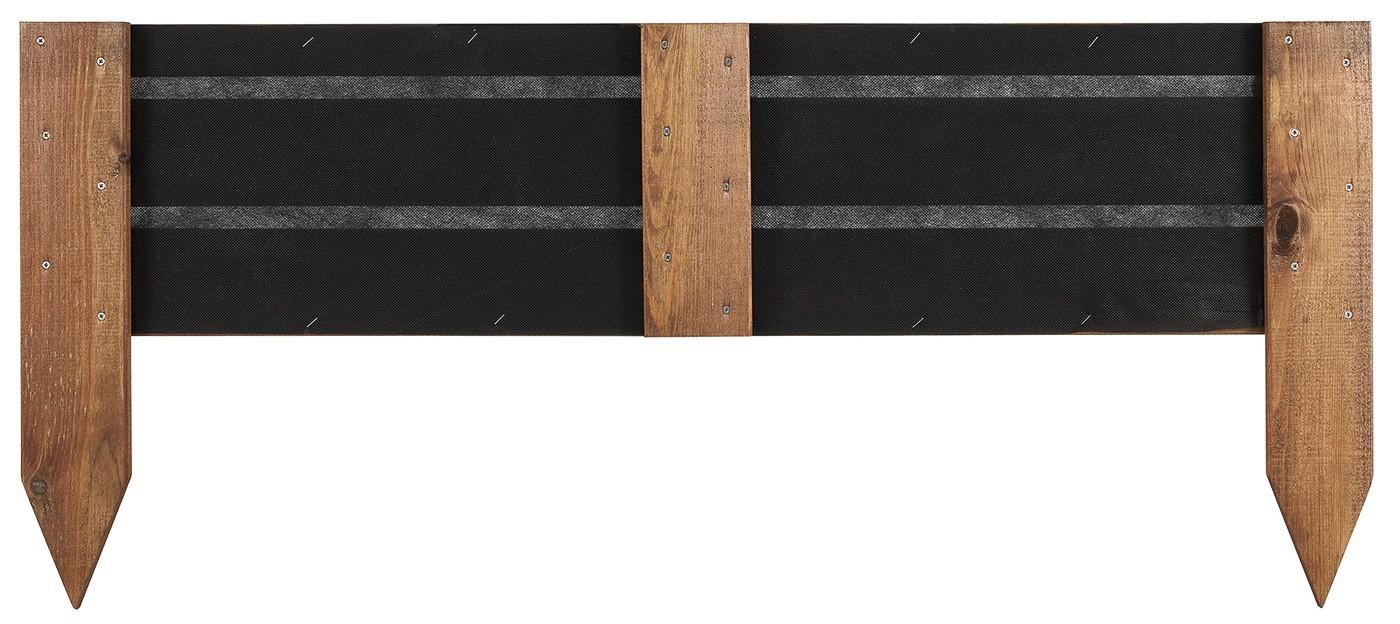 Bordure de jardin en bois à planter 100 x 1,6 x 43 cm