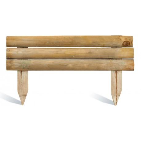 Bordure de jardin en bois à planter 110 x 21/40 cm