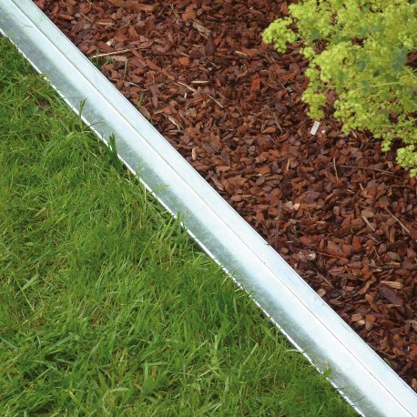 Bordure de jardin droite en métal galvanisé 118 x 4 x 9 cm
