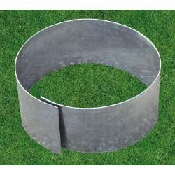 Bordure de jardin en tôle métallique zinguée circulaire flexible d.20 cm