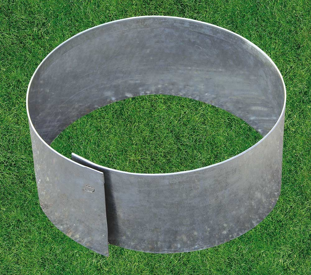 Bordure m tal circulaire flexible d 40 for Bordures de jardin castorama