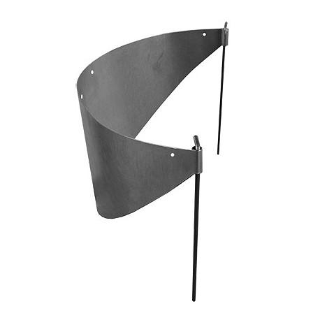 Bordure métal demi cercle d.40 cm