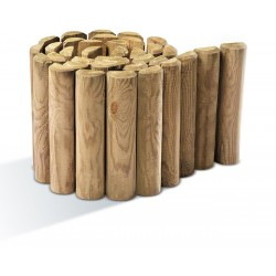 Bordure bois pour terrasse et jardin for Bordure jardin demi rondin bois