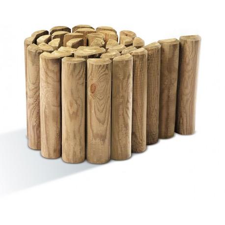 Bordure bois d rouler rondins 3 5 x 40 x 200 for Bordure jardin demi rondin bois