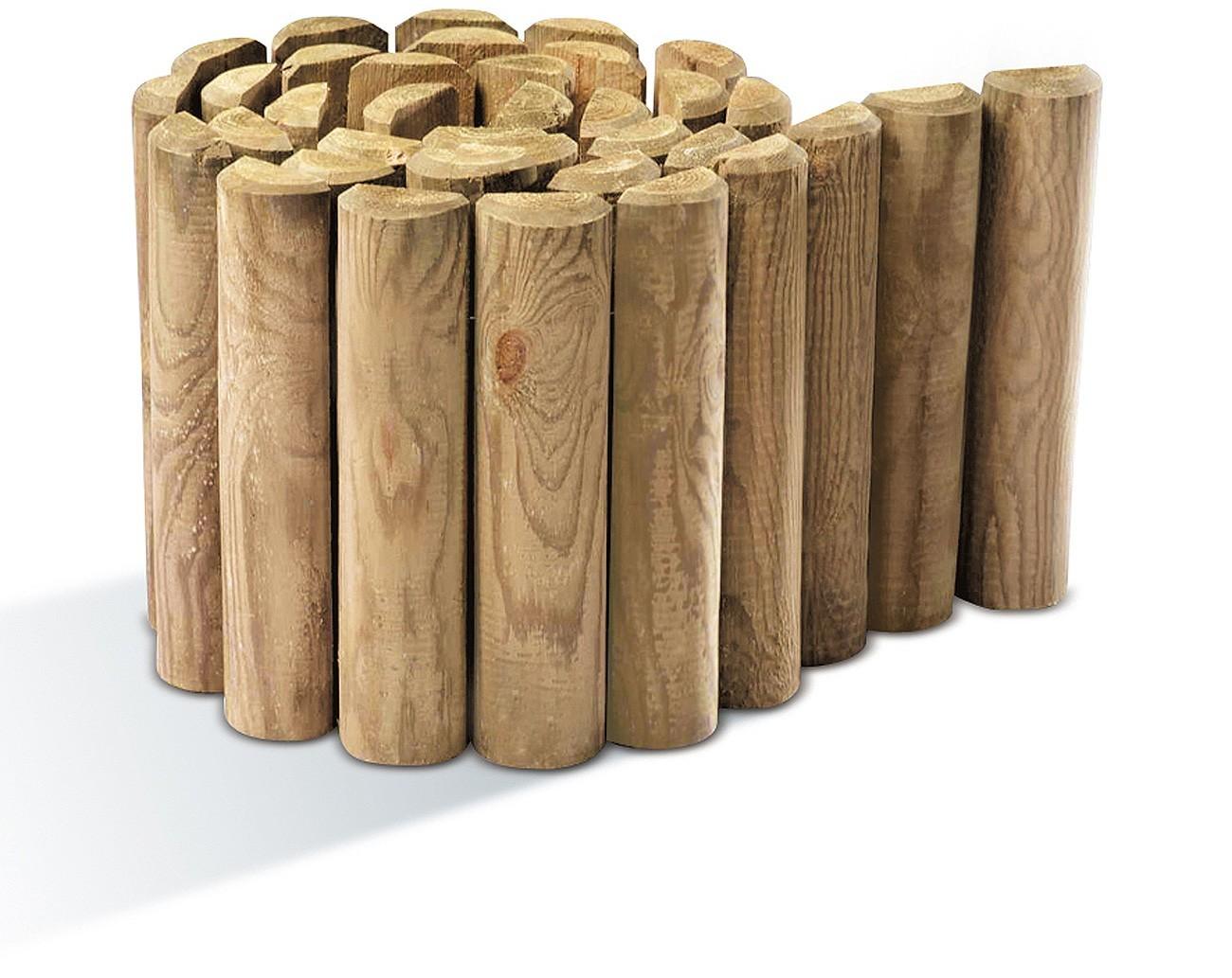 bordure bois d rouler rondins 3 5 x 40 x 200. Black Bedroom Furniture Sets. Home Design Ideas
