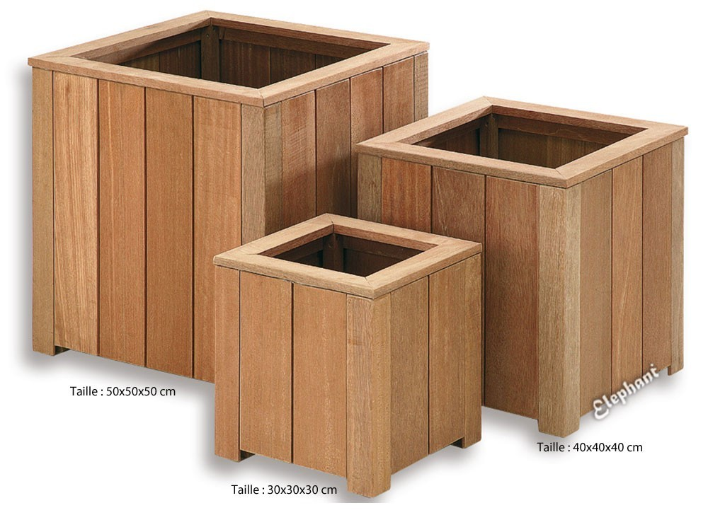 Jardini re en bois carr e 40 x 40 x 40 cm - Jardiniere en bois ...