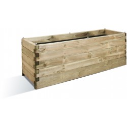 Jardinière en bois rectangulaire Oléa 150 x 50 x 50 cm