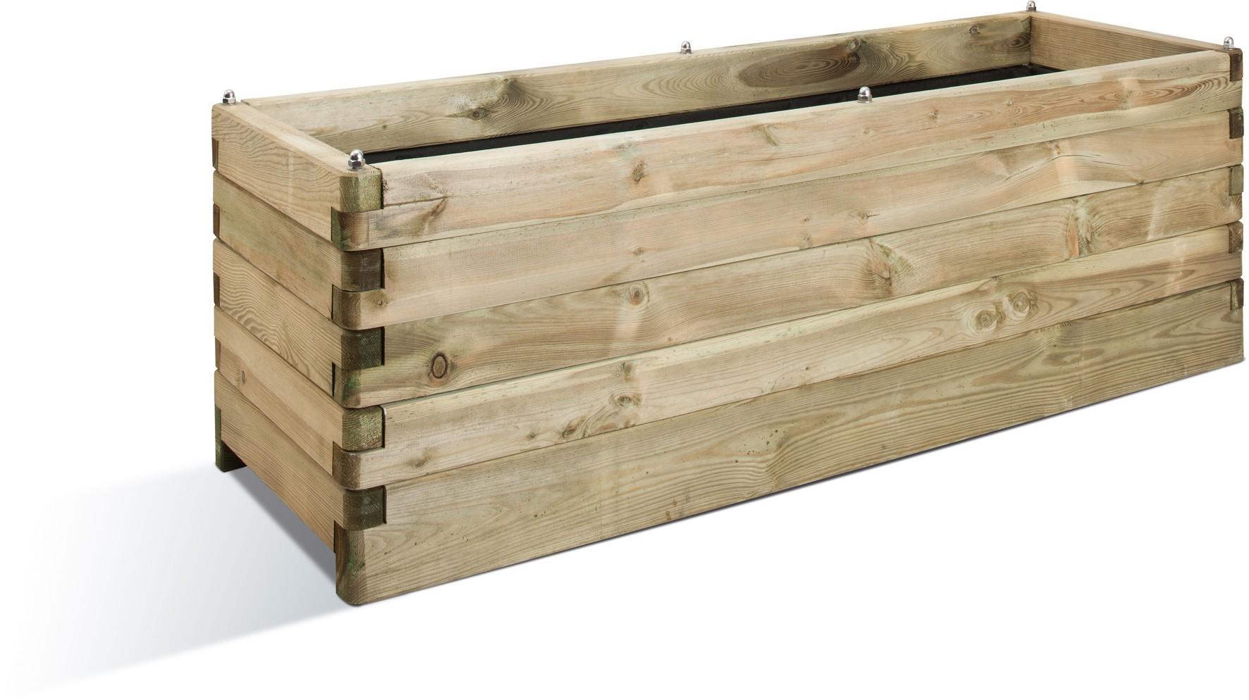 Jardini re en bois rectangulaire ol a 150 x 50 x 50 cm - Jardiniere bois ...