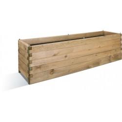 Jardinière en bois rectangulaire Oléa 180 x 50 x 50 cm