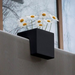 Jardinière en polyéthylène carrée Steckling 30 x 30 x 30 cm noir