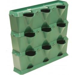Jardinière Plastique Pour Mur Végétal Mini-Garden Vert