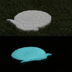 Pas japonais de jardin en pierre reconstituée luminescent escargot 30 x 28 x 3 cm