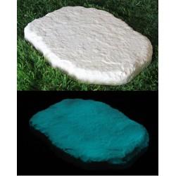 Pas japonais de jardin en pierre reconstituée luminescent roche 35 x 25 x 3 cm