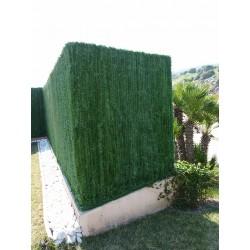 Haie artificielle de jardin en PVC 110 brins 300 x 120 cm