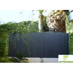 Canisse de jardin en PVC 300 x 180 cm gris anthracite