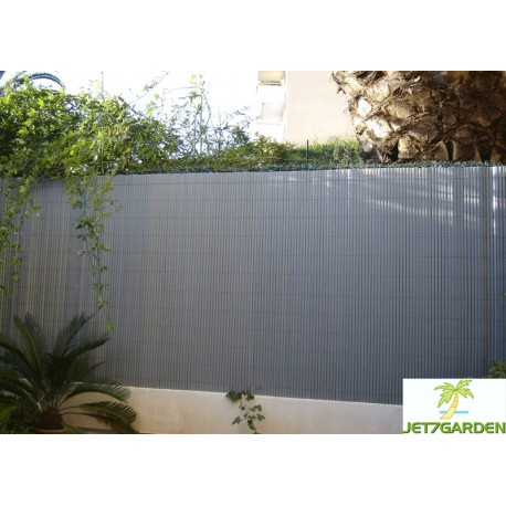 Canisse de jardin en PVC 300 x 150 cm gris perle