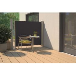 Store latéral rétractable de terrasse en PVC gris anthracite 300 x 180 cm