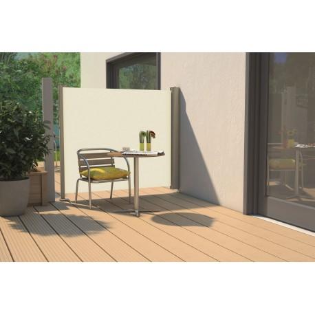 Store latéral rétractable de terrasse en PVC beige 300 x 180 cm