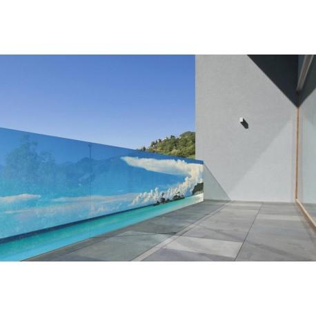 Brise vue de jardin en polyester décor Atoll 300 x 80 cm