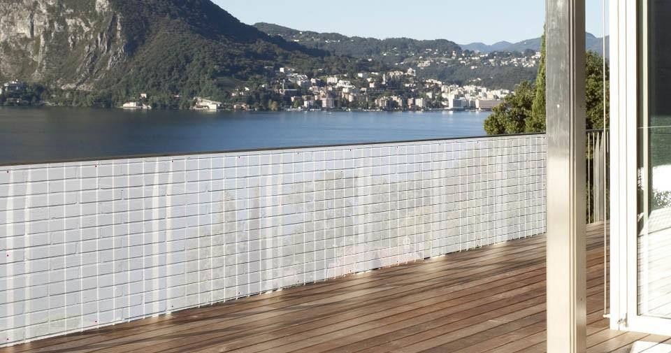 Brise vue en toile polyester brique blanche 0 80 x 3 ml for Toile de verre exterieur
