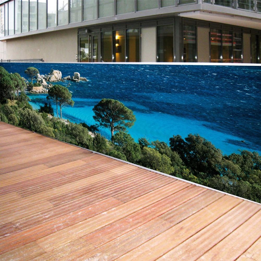 Brise Vue Jardin Japonais brise vue de jardin en polyester décor tamaricio 500 x 100 cm